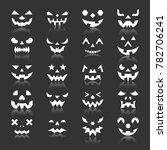halloween face icon set.... | Shutterstock . vector #782706241