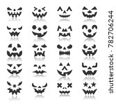 halloween face icon set.... | Shutterstock . vector #782706244