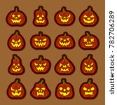 carving face halloween pumpkin... | Shutterstock . vector #782706289