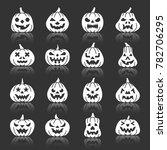 carving face halloween pumpkin... | Shutterstock . vector #782706295