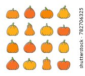 halloween line icon set. color... | Shutterstock . vector #782706325