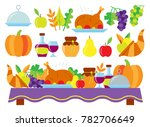 colored thanksgiving day card.... | Shutterstock . vector #782706649