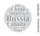 100 biggest countries word... | Shutterstock .eps vector #782708395