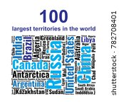 100 biggest countries word... | Shutterstock .eps vector #782708401