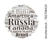 100 biggest countries word... | Shutterstock .eps vector #782708425