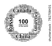 100 biggest countries word... | Shutterstock .eps vector #782708431