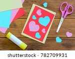 nice valentines day card with... | Shutterstock . vector #782709931
