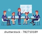 meeting business people.... | Shutterstock .eps vector #782710189