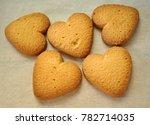 cookies in form of heart. baked ... | Shutterstock . vector #782714035