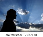 woman in silhouette with... | Shutterstock . vector #7827148