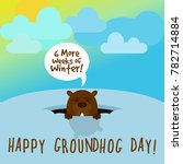 happy groundhog day  groundhog... | Shutterstock .eps vector #782714884