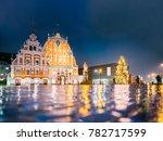 riga  latvia. panorama of town... | Shutterstock . vector #782717599