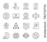 cryptocurrency line icons set.... | Shutterstock .eps vector #782719741