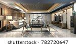 3d render of working room   Shutterstock . vector #782720647