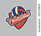 volley ball logo with text... | Shutterstock .eps vector #782720854