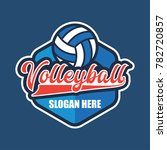 volley ball logo with text... | Shutterstock .eps vector #782720857