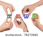 hands and word team | Shutterstock . vector #78272860