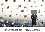 cropped image of businessman in ... | Shutterstock . vector #782728981