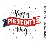 happy presidents day text  on... | Shutterstock .eps vector #782730001