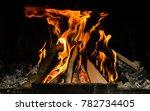 fireplace fire  wood  heat in... | Shutterstock . vector #782734405