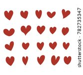 heart set vector | Shutterstock .eps vector #782735347