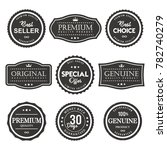 vector label premium quality | Shutterstock .eps vector #782740279