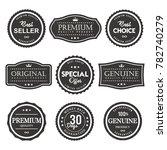vector label premium quality | Shutterstock .eps vector #782740279