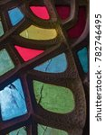 panel of colorful stained glass ...   Shutterstock . vector #782746495