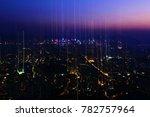 stars fall into kowloon city | Shutterstock . vector #782757964