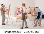 male and female adult students... | Shutterstock . vector #782760151
