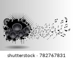 music grunge poster with... | Shutterstock .eps vector #782767831