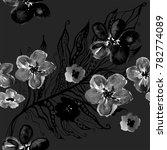 boho pattern. watercolor... | Shutterstock . vector #782774089