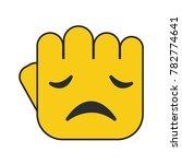 hand fist illustration.... | Shutterstock .eps vector #782774641