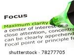 Maximum Clarity Highlighted In...