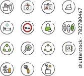 line vector icon set   passport ... | Shutterstock .eps vector #782780467