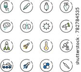 line vector icon set   drop... | Shutterstock .eps vector #782784535