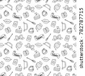 seamless pattern of valentine... | Shutterstock .eps vector #782787715