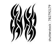 tattoo tribal vector design.... | Shutterstock .eps vector #782792179