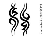 tribal pattern tattoo vector... | Shutterstock .eps vector #782792191