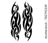 tattoo tribal vector design.... | Shutterstock .eps vector #782792239