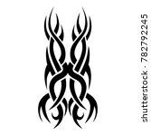 tattoo tribal vector design.... | Shutterstock .eps vector #782792245
