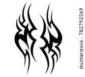 tattoo tribal vector design.... | Shutterstock .eps vector #782792269