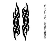 tattoo tribal vector design.... | Shutterstock .eps vector #782792275