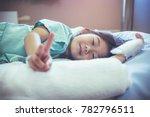 illness asian child showing v... | Shutterstock . vector #782796511