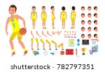 basketball player male vector.... | Shutterstock .eps vector #782797351