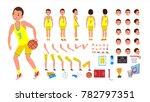 basketball player male vector.... | Shutterstock .eps vector #782797351