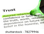 assured reliance highlighted in ... | Shutterstock . vector #78279946