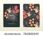 cover design with floral... | Shutterstock .eps vector #782800345