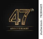 anniversary  aniversary  forty... | Shutterstock .eps vector #782804605