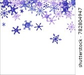 falling snowflakes for... | Shutterstock .eps vector #782804947
